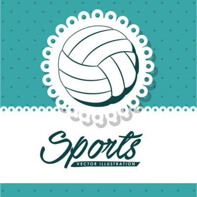Картина дизайн волейбольная лига