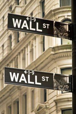 Картина Уолл-стрит знаков в Нью-Йорке