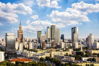 Картина Варшава деловой район