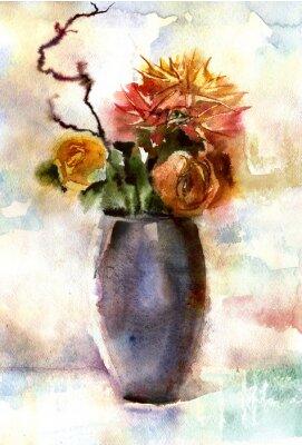 Картина Акварельный букет цветов