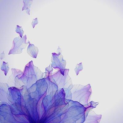 Картина Акварели открытка с фиолетовым цветком лепесток