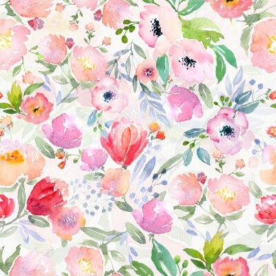 Картина акварель цветочным узором