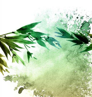 Картина Акварель нарисовал листву деревьев