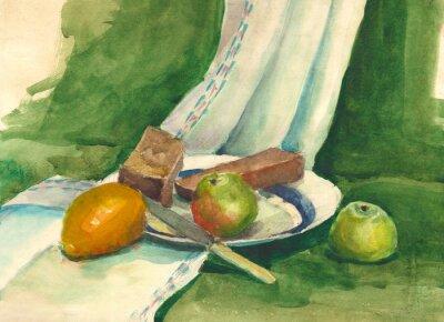 Картина акварель натюрморт