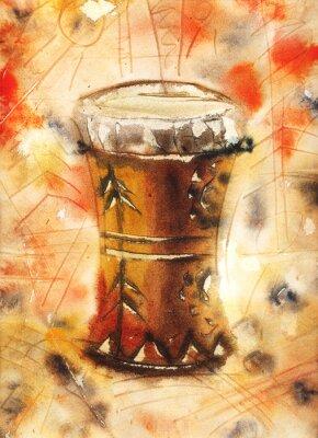 Картина Акварельный натюрморт с тамтам