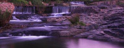 водопад закат панорама