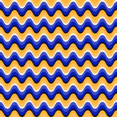 Картина Волнистые бесшовные модели с оптической иллюзии движения. Swatch прилагается