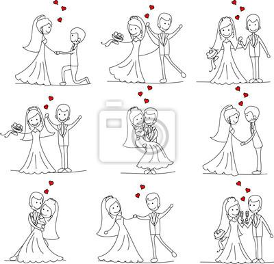 Свадебный невесты и жениха мультфильма