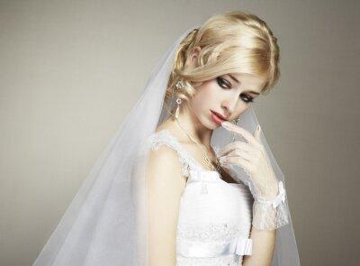 Картина Свадебный портрет красивая молодая невеста