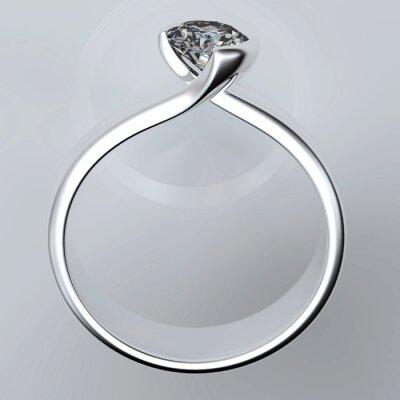 Картина Обручальное кольцо с бриллиантом