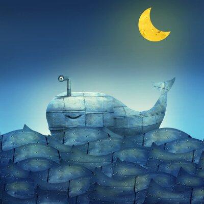 Картина Кит в голубом
