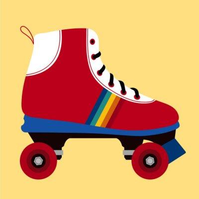 Картина Белое и красное катание обуви