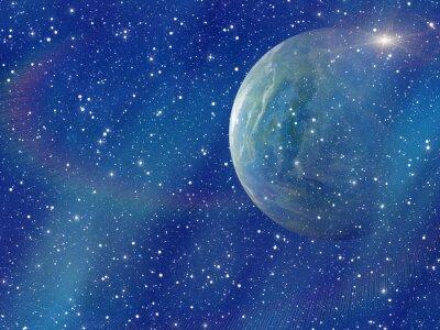 Картина белая вспышка пространства планеты. космос небо фон