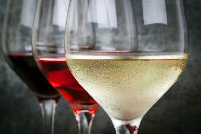 Картина Белая роза и красное вино
