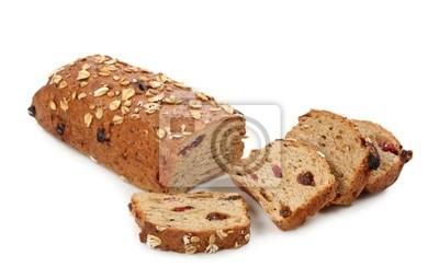 хлеб из непросеянной муки с мюсли