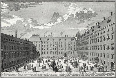 Картина Вена, Innerer Burghof мкм 1725, Kupferstichvorlage