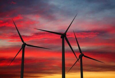 Картина Ветрогенератор турбины в небе