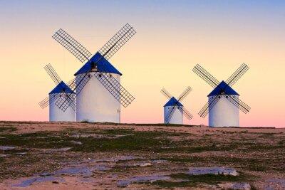Картина Ветряная мельница в Кампо-де-Криптана, Ла-Манча, Испания