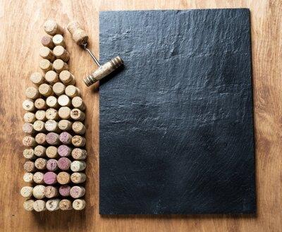 Картина Винные пробки в форме бутылки вина.