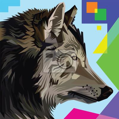 Стиль волка поп-арт