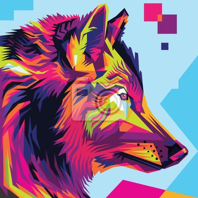 Картина Стиль волка поп-арт