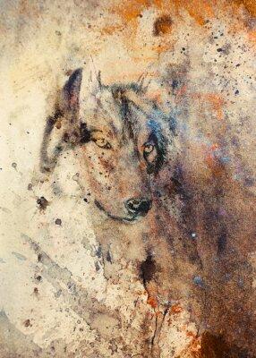 Картина Вольф живопись, цвет абстрактный эффект на фоне