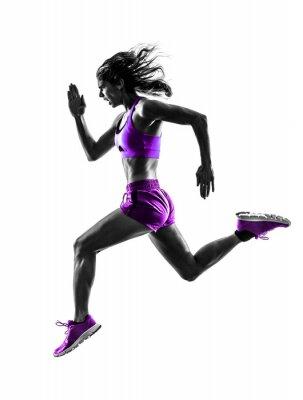Картина женщина бегун бегун трусцой силуэт