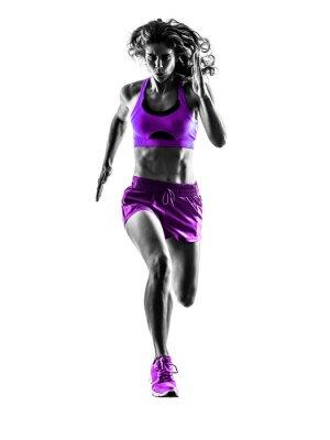 Картина Женщина бегун, работающие бегун трусцой силуэт