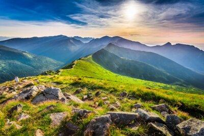 Картина Прекрасный закат в горах летом