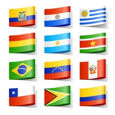 Картина Мировые флаги. Южная Америка.