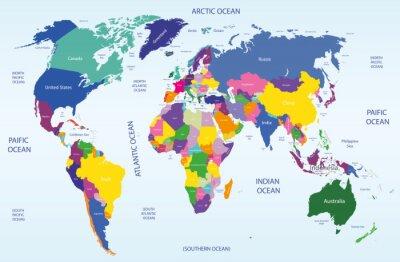 Картина мир географической и политической карте