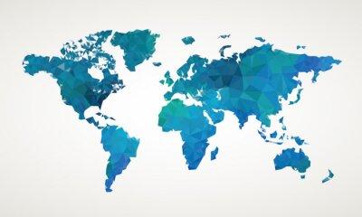 Картина World map vector abstract illustration pattern