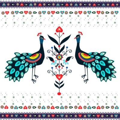 Картина Wzor haftu г pawiami