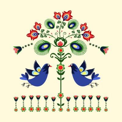 Картина Wzor haftu г ptakami