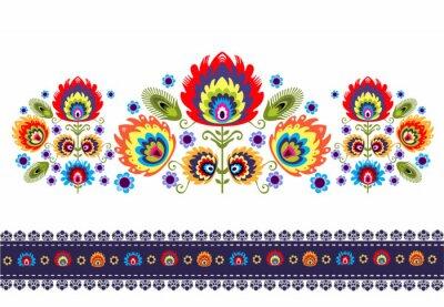 Картина Wzor ludowy г kwiatami