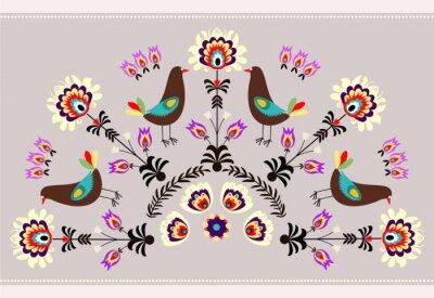 Картина Wzor г ptakami
