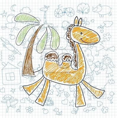 Детские рисунки каракули верблюда