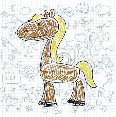 Детские рисунки каракули лошади