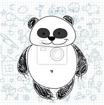 Детские рисунки каракули панды