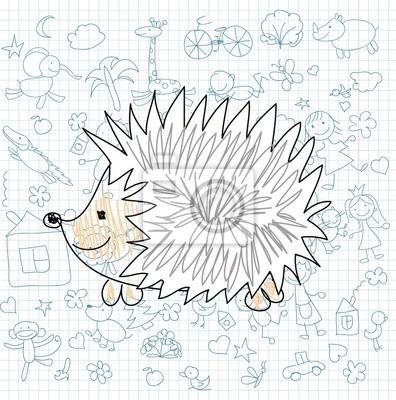 Детские рисунки каракули ежа