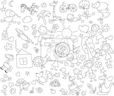 Детские рисунки каракули животных