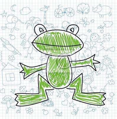Детские рисунки каракули лягушки