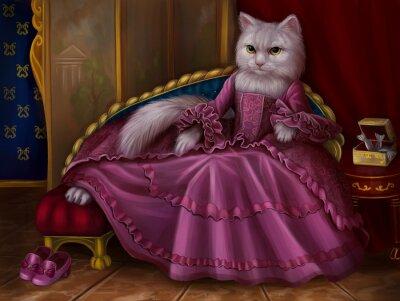 Картина кошка графиня