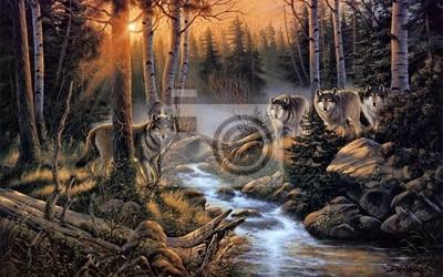 Картина Стая волков