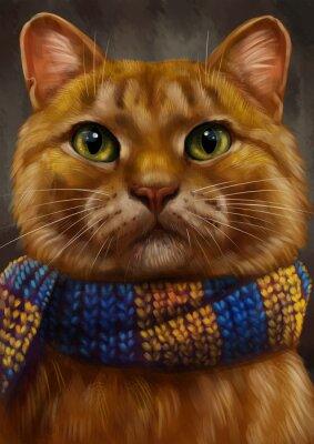 Картина рыжий кот