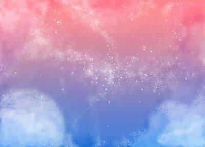 Картина ふ わ ふ わ ピ ン ク の 空 Пушистый розовый небо