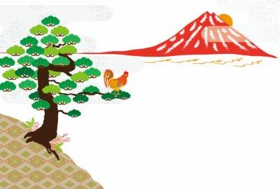 Картина 鶏 の イ ラ ス ト Eps ベ ク タ ー 素材 年 賀 状 ポ ス ト カ ー ド