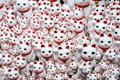 Картина Goutokuji-храм Beckoning кошка, Токио, Япония (豪 徳 寺 の 招 き 猫)