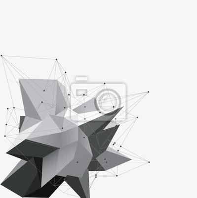 IA ÷ àòüAbstract треугольники пространство низкополигональная. Белый фон с соединительными точками и линиями. Легкая структура соединения. Многоугольная фон вектор. Футуристический HUD.