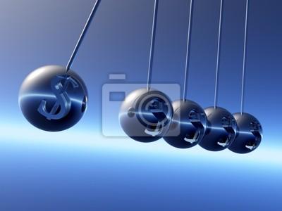 Ньютон колыбель маятники с Symbole Доллара